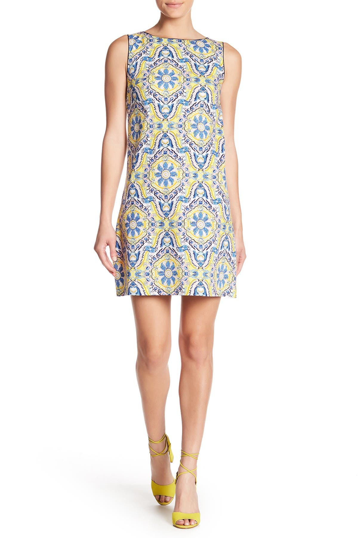 Image of Betsey Johnson Printed Cotton Shift Dress