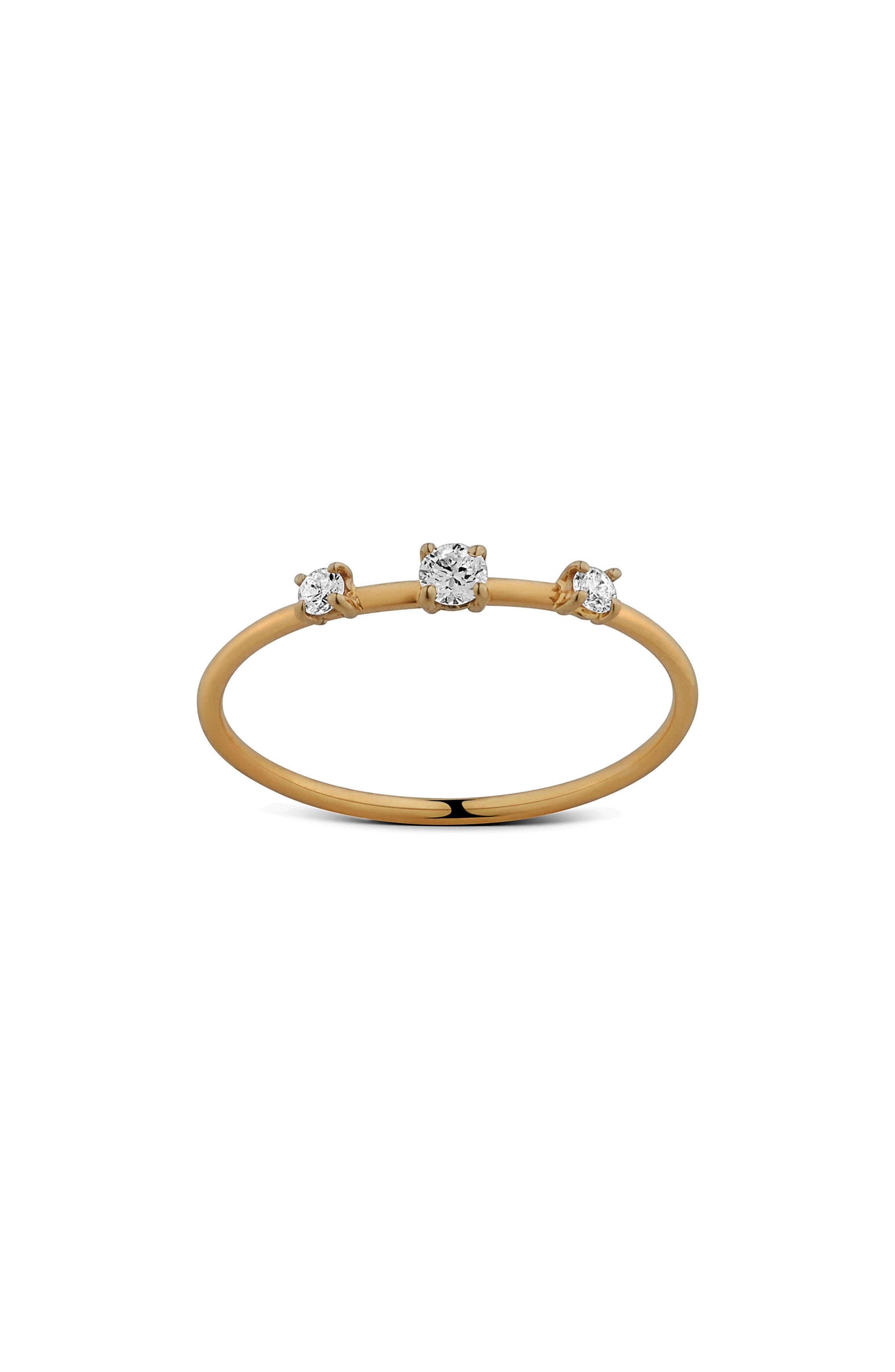 Three-Stone Diamond Wire Ring
