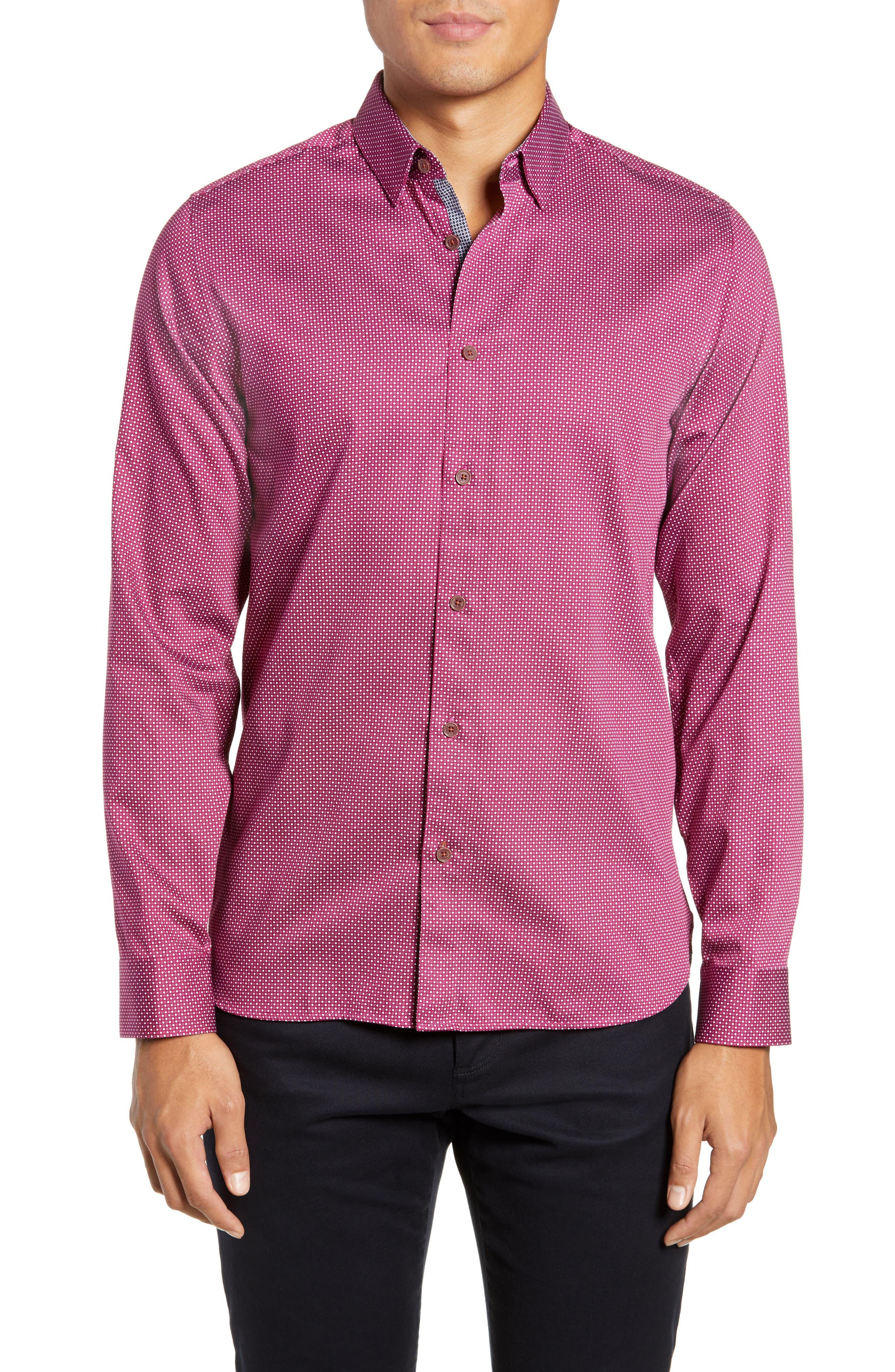 ,                             Subik Slim Fit Geo Print Sport Shirt,                             Main thumbnail 18, color,                             510