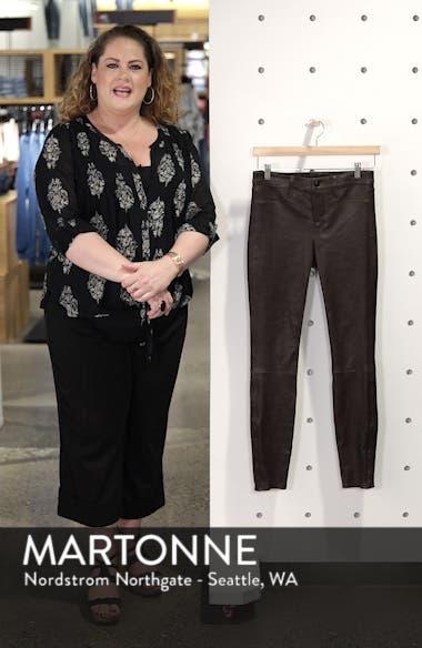 '8001' Lambskin Leather Pants, sales video thumbnail