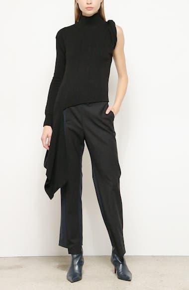 Asymmetrical One-Shoulder Merino Wool Sweater, video thumbnail