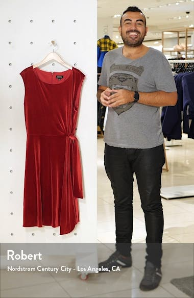 Stretch Velvet Fit & Flare Dress, sales video thumbnail