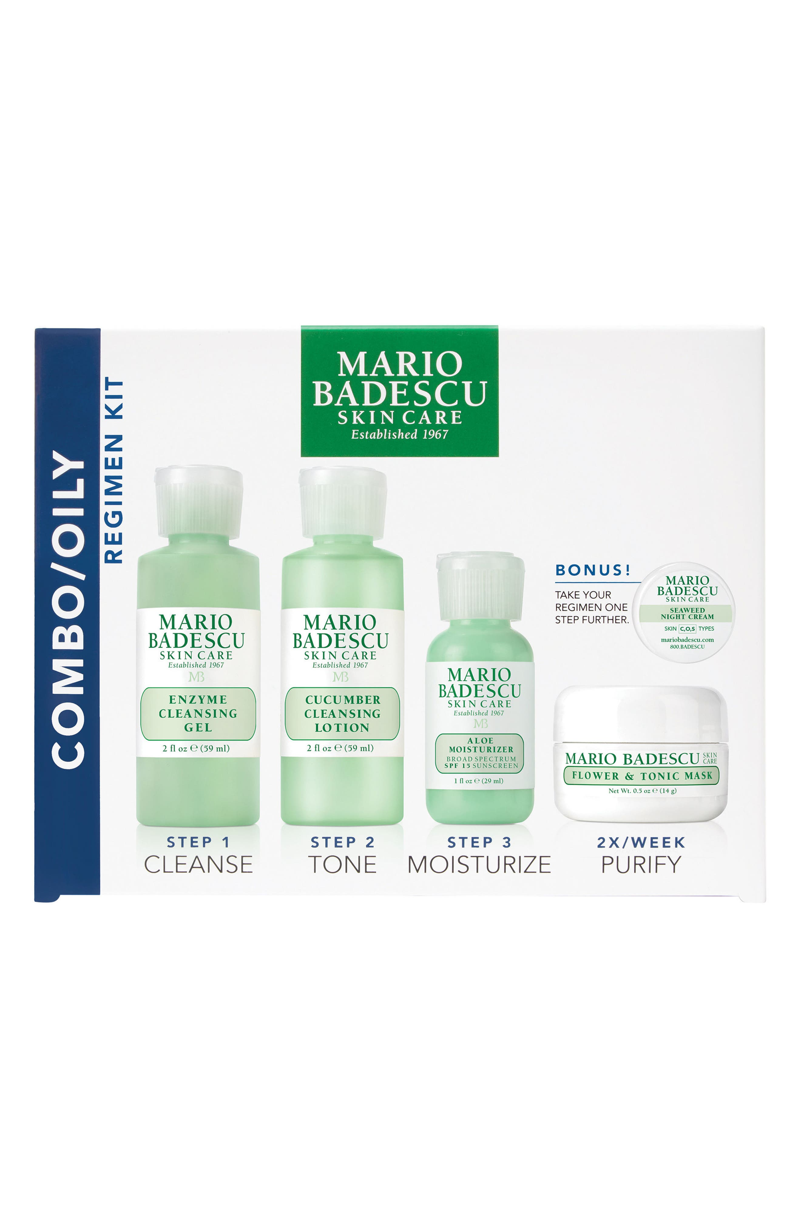 Image of Mario Badescu Combination/Oily Skin Regimen 5-Piece Kit