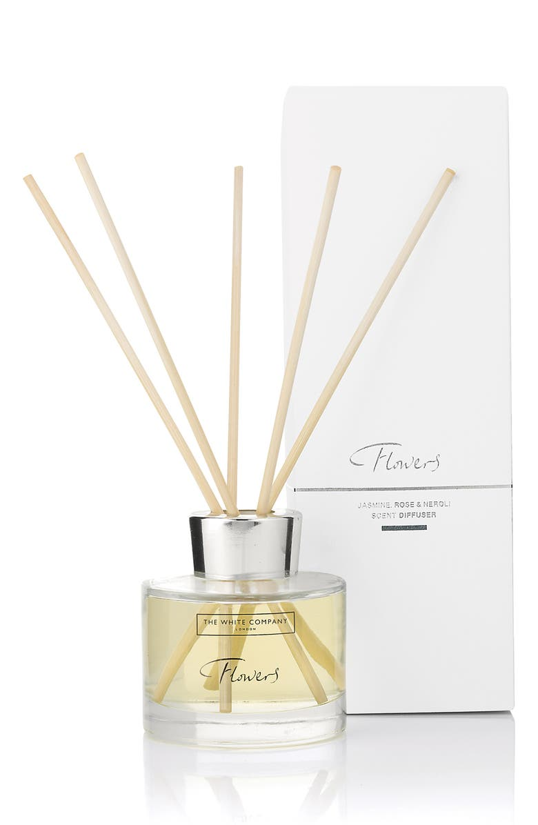 THE WHITE COMPANY Flowers Reed Diffuser, Main, color, WHITE