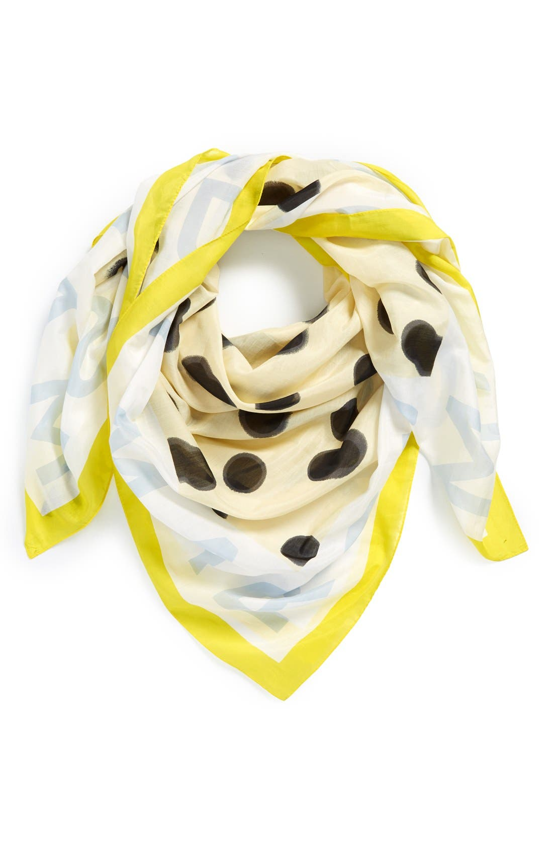 ,                             MARC BY MARC JACOBS 'Blurred Dot' Cotton & Silk Square Scarf,                             Main thumbnail 6, color,                             700
