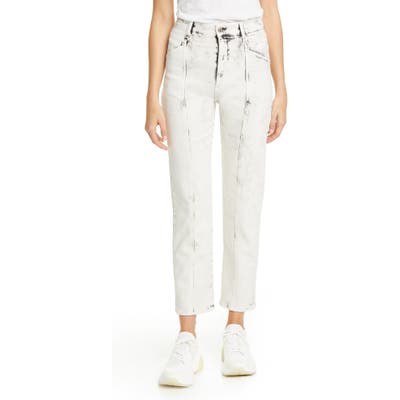 Stella Mccartney Galaxi Acid Wash Ankle Jeans, White