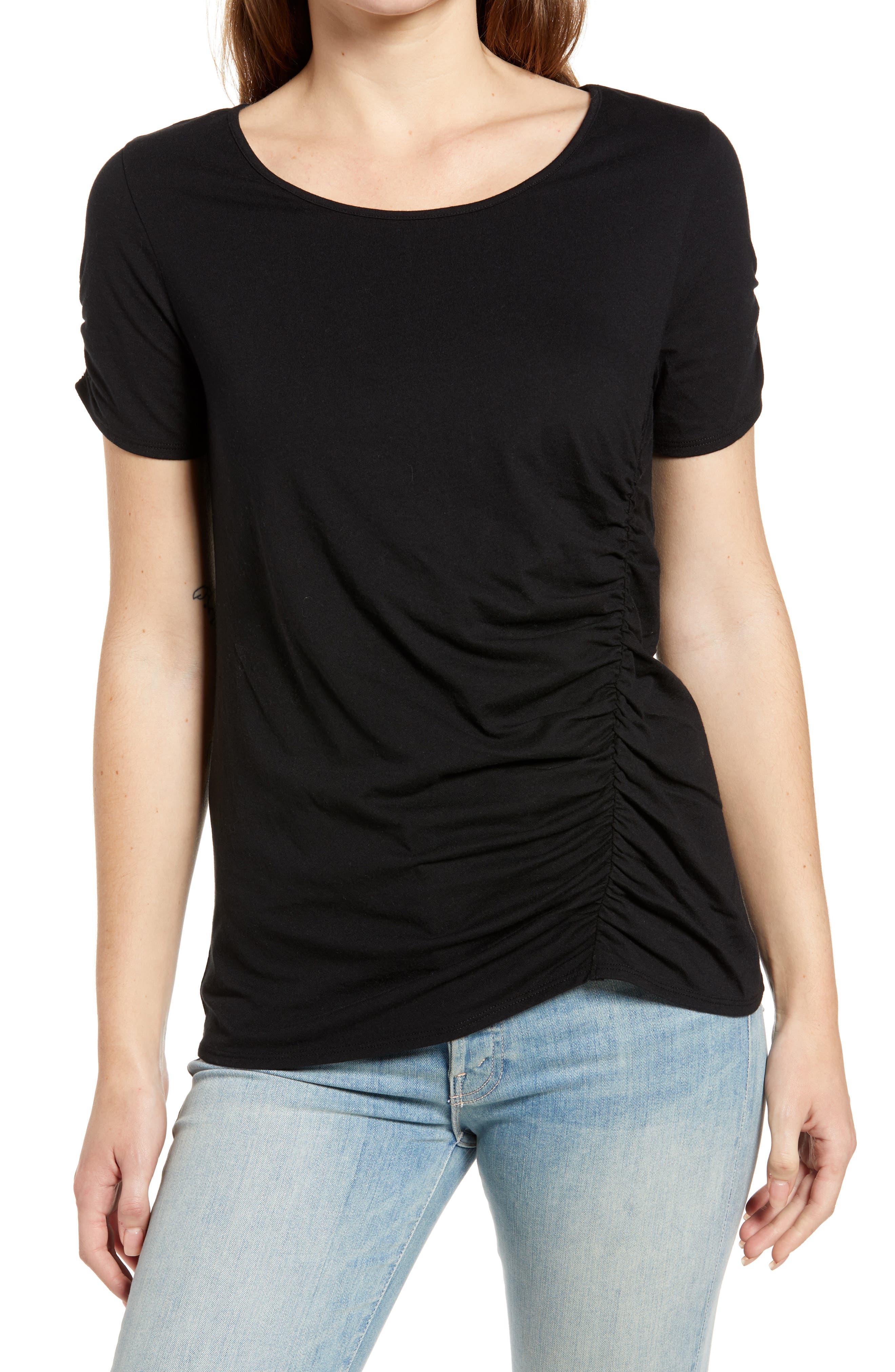 Women's Caslon Ruched Knit T-Shirt