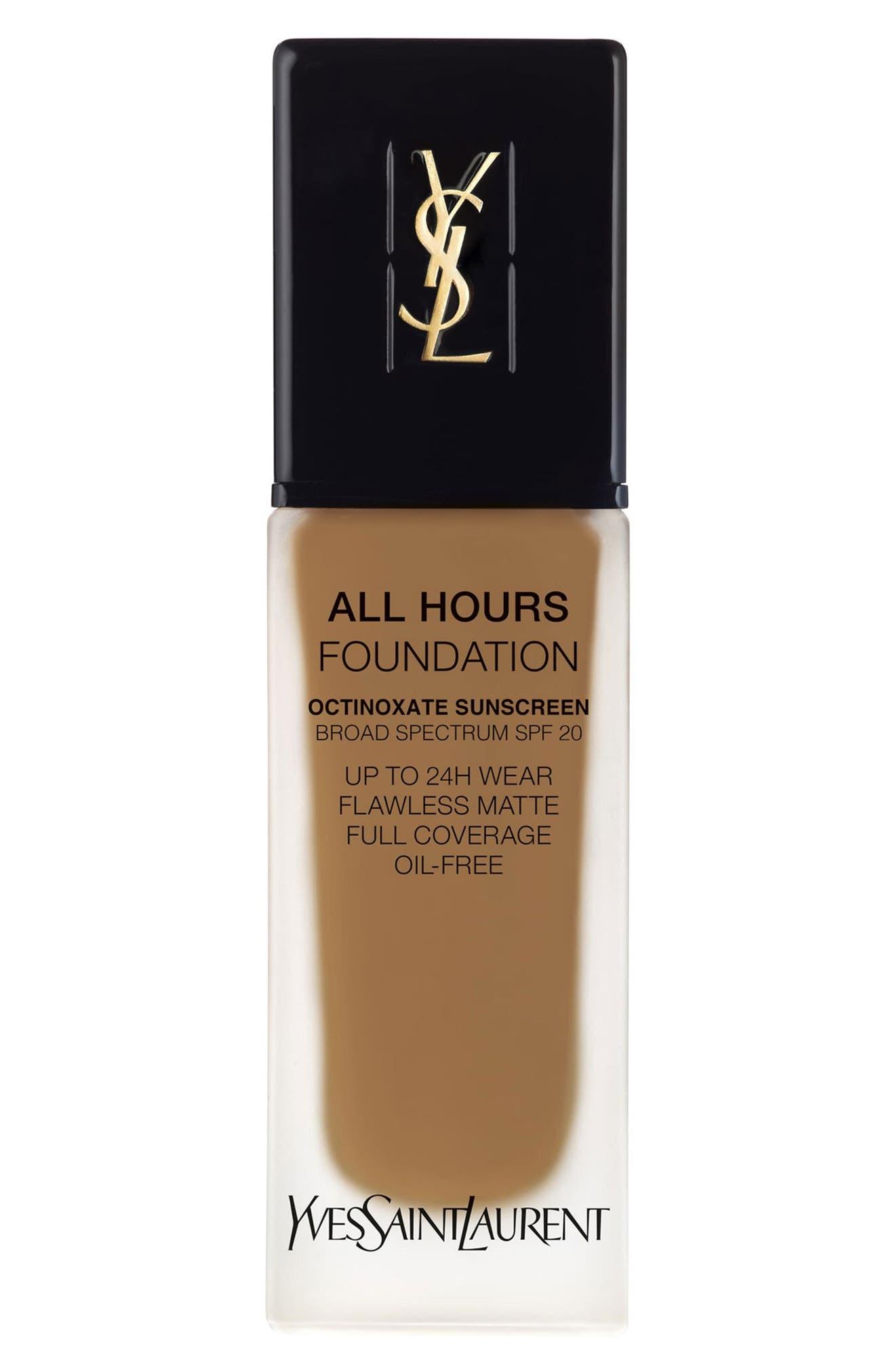 Yves Saint Laurent All Hours Full Coverage Matte Foundation Spf 20 - Br75 Cool Hazelnut
