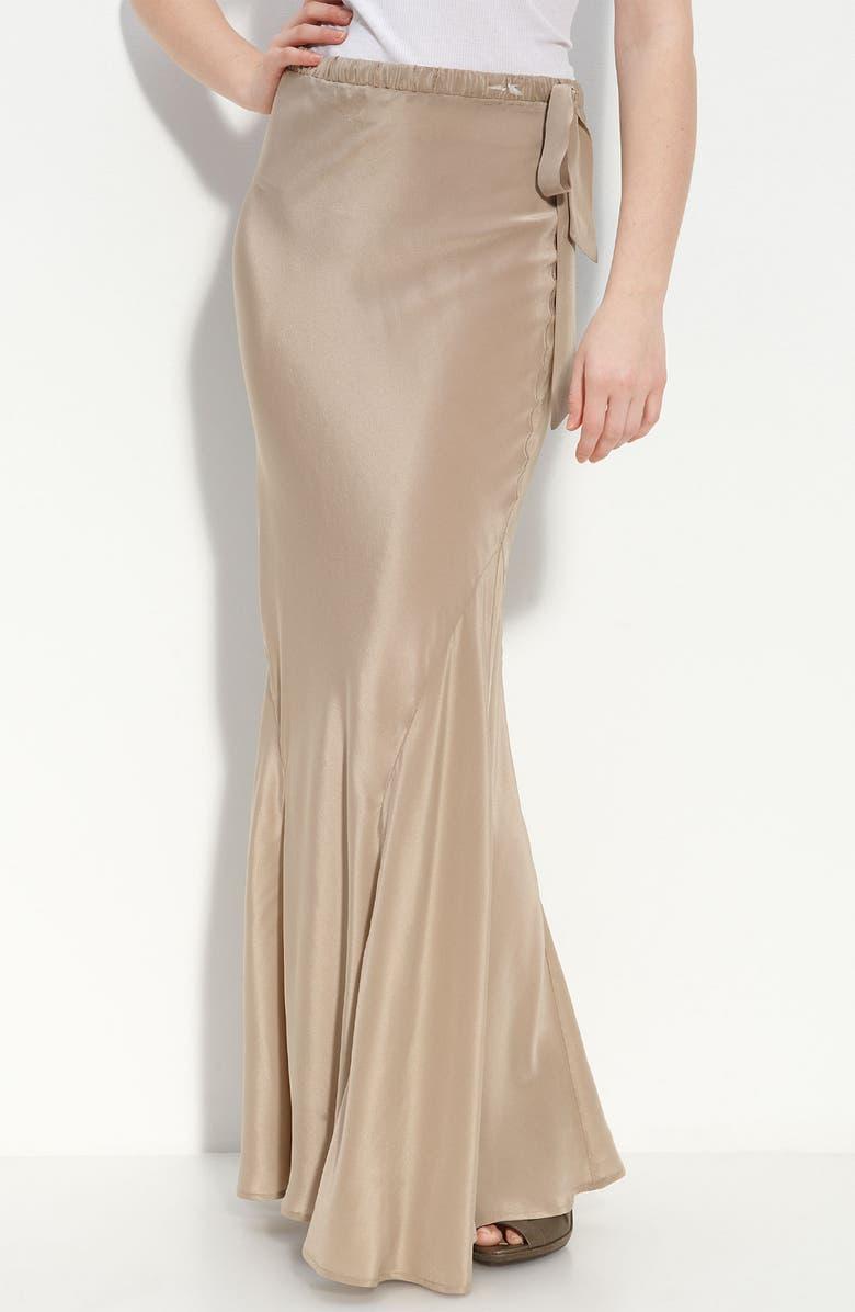 HAUTE HIPPIE 'Phillips' Silk Maxi Skirt, Main, color, 245