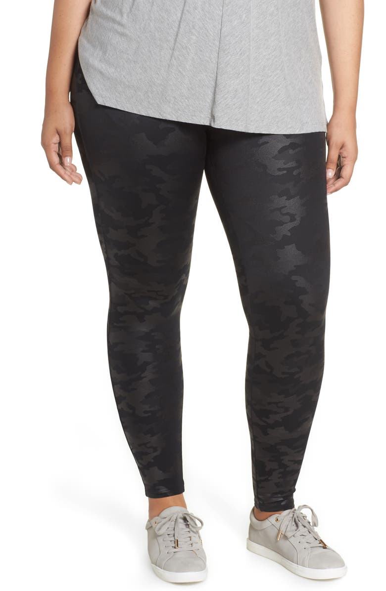 77978e1a8f97dc SPANX® Camo Faux Leather Leggings (Petite Plus) | Nordstrom