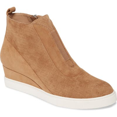 Linea Paolo Anna Wedge Sneaker- Brown