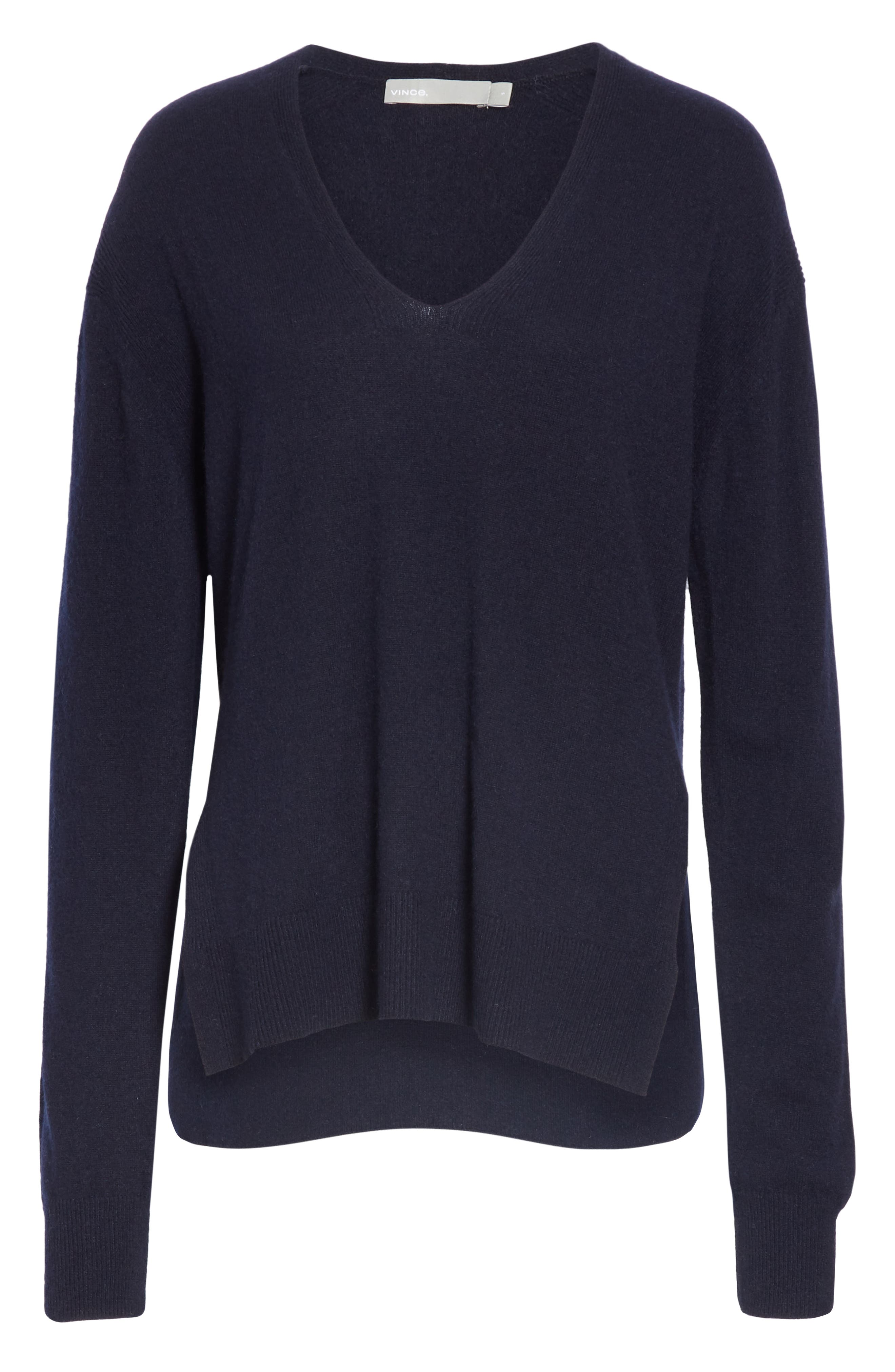 ,                             Wool & Cashmere V-Neck Sweater,                             Alternate thumbnail 12, color,                             403