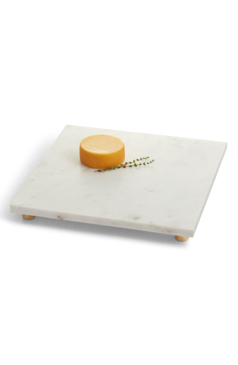 NORDSTROM AT HOME Square Marble Serving Board, Main, color, WHITE