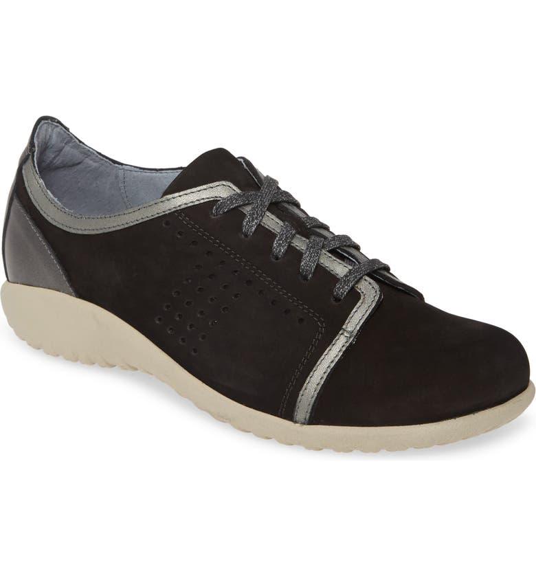 NAOT Avena Sneaker, Main, color, BLACK LEATHER