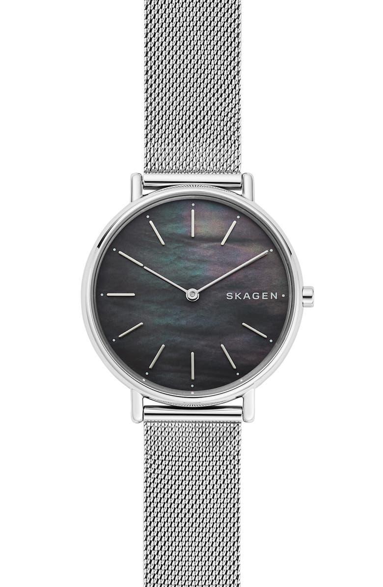 SKAGEN Signatur Mesh Strap Watch, 36mm, Main, color, 040
