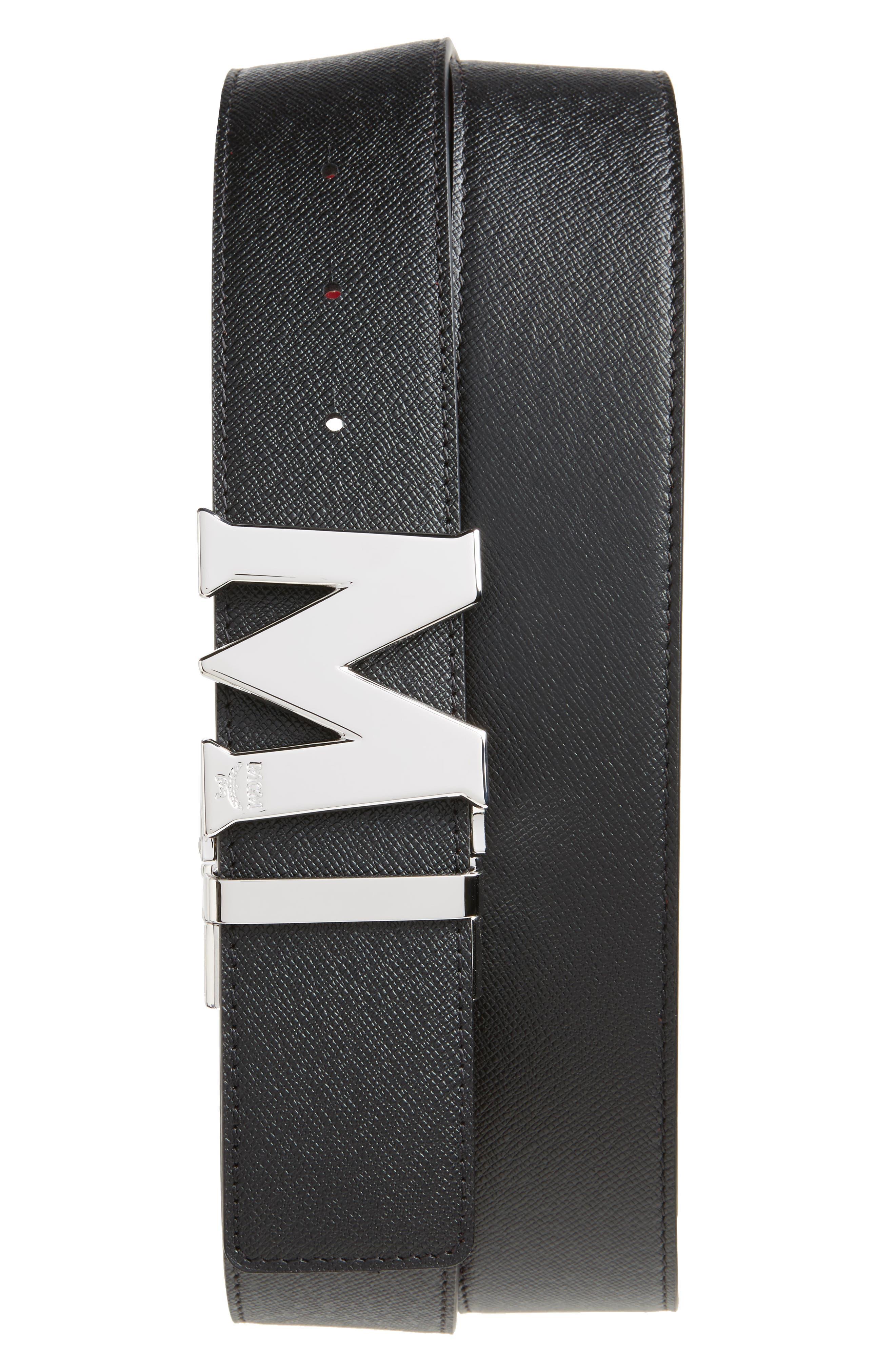 ,                             Reversible Signature Leather Belt,                             Alternate thumbnail 7, color,                             607