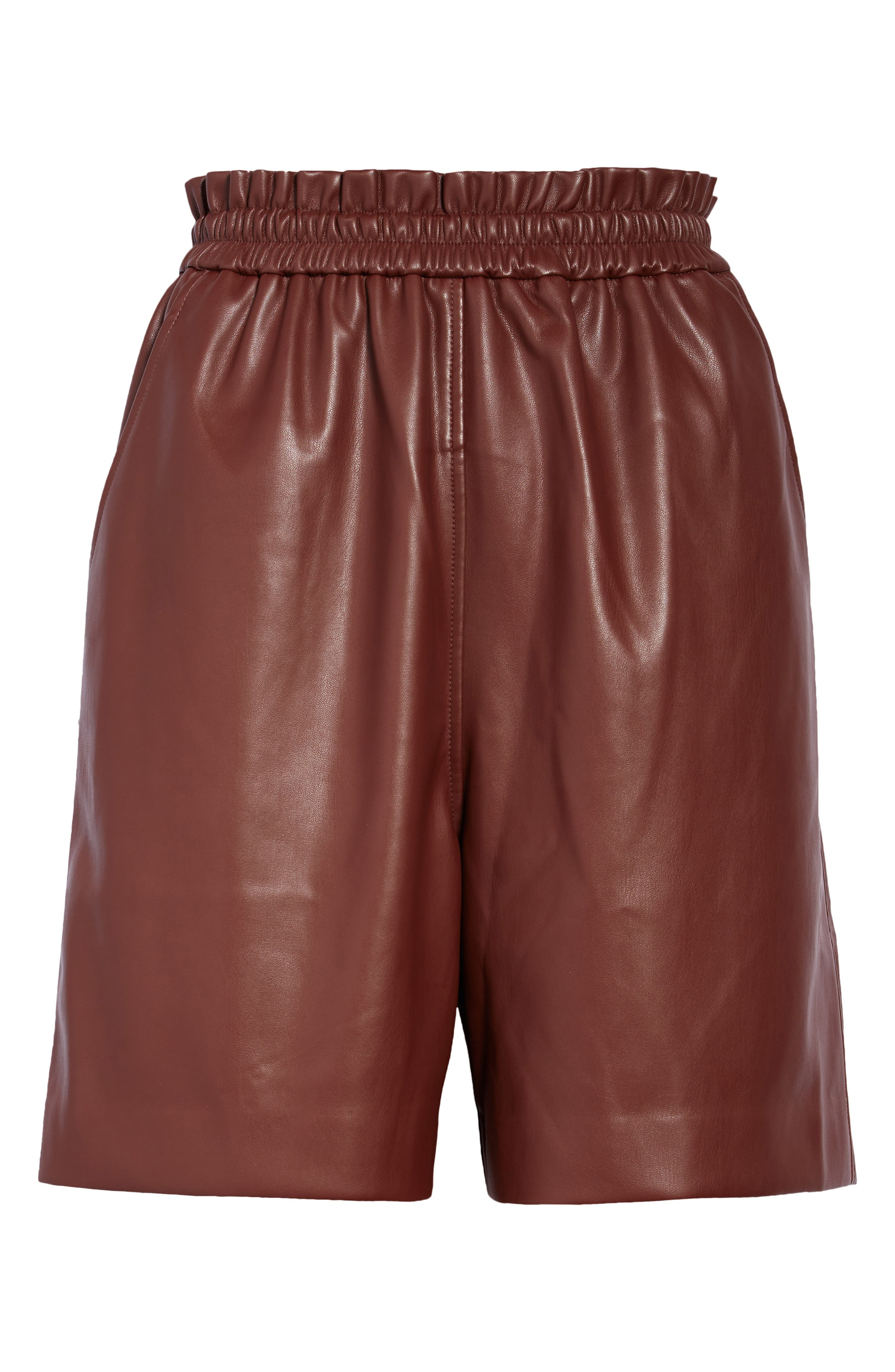 Pantas Faux Leather Walking Shorts