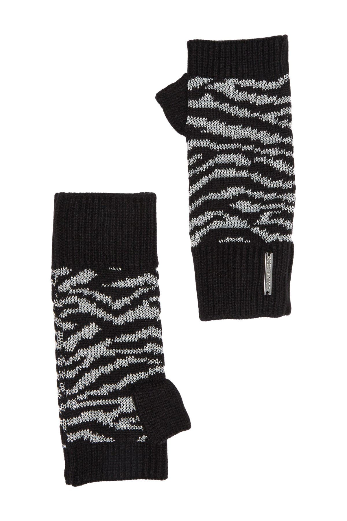 Image of Michael Kors Tiger Stripe Print Metallic Arm Warmer