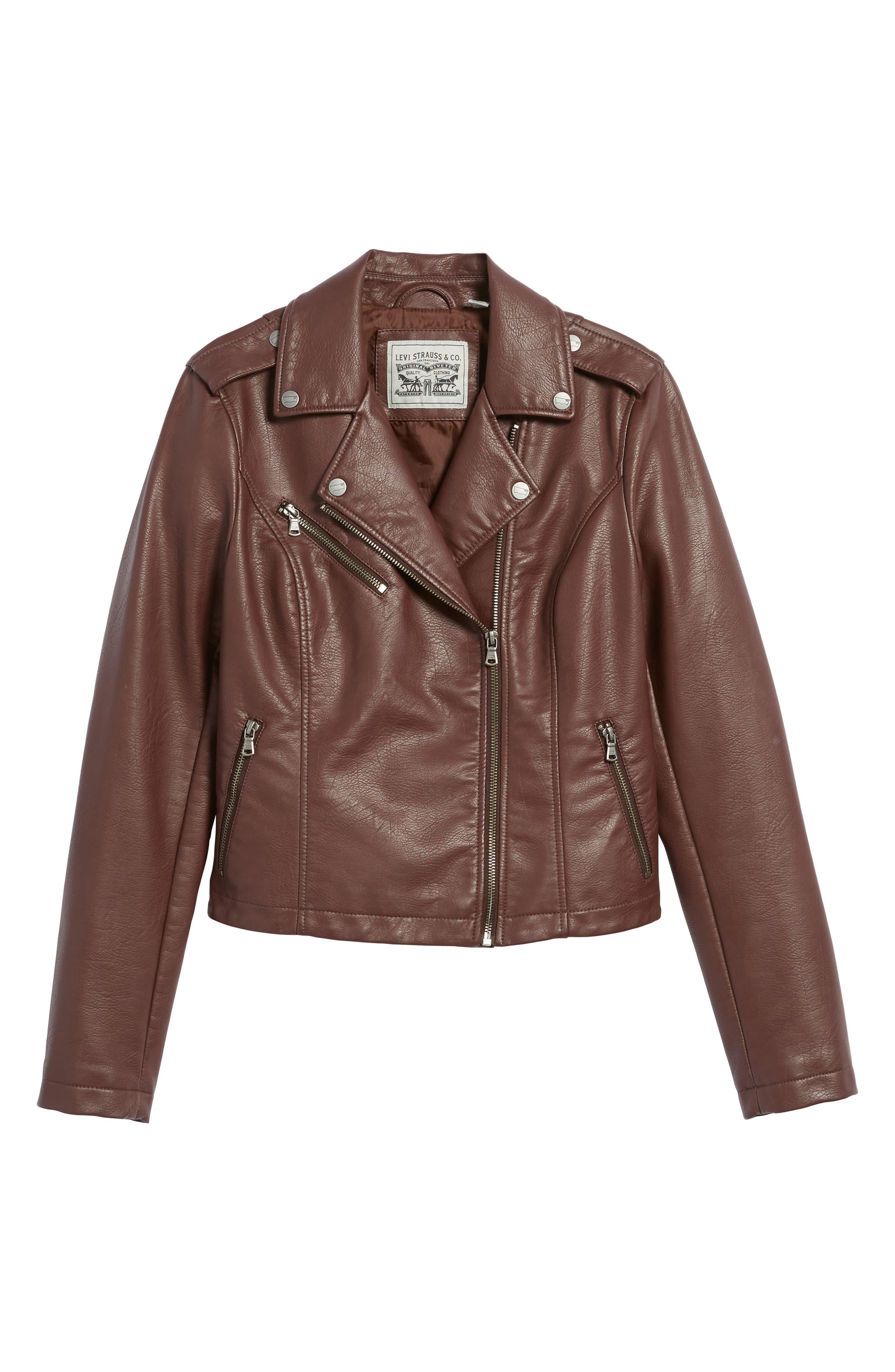 ,                             Faux Leather Moto Jacket,                             Alternate thumbnail 37, color,                             935