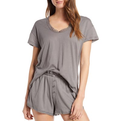 The Great. The Lace Pajama Tee, Grey