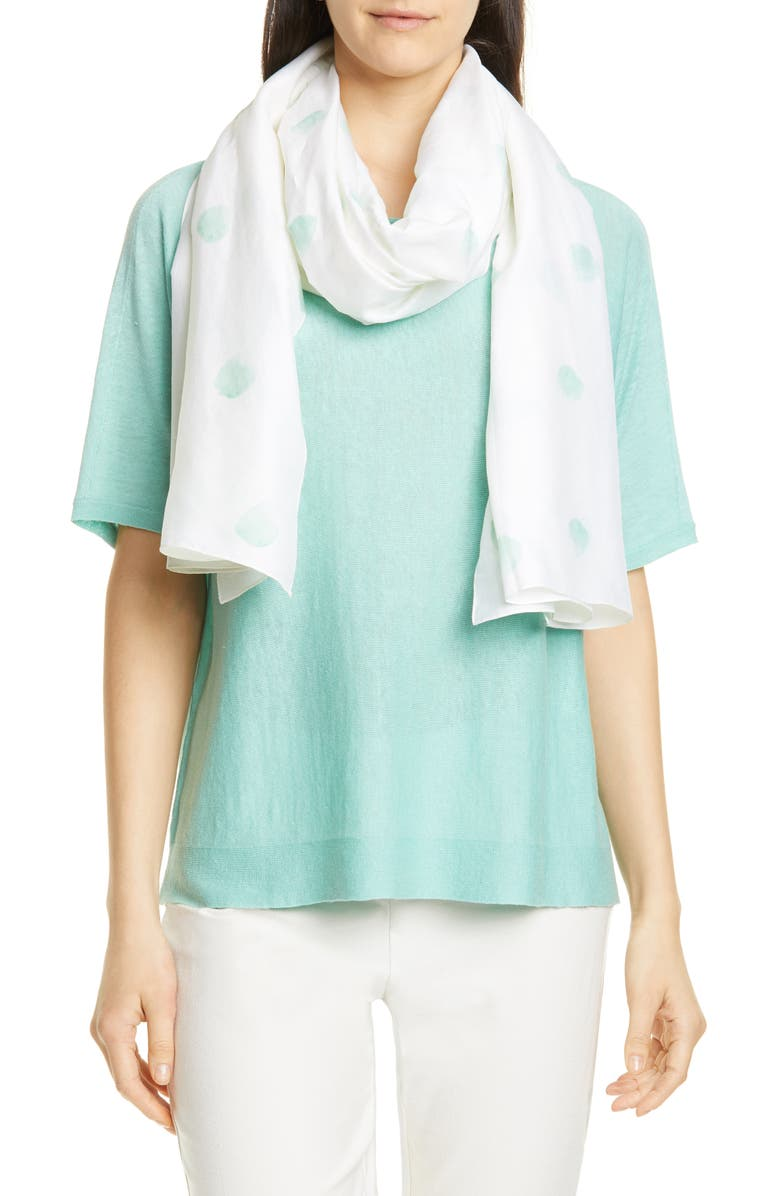 EILEEN FISHER Organic Cotton & Silk Scarf, Main, color, 485