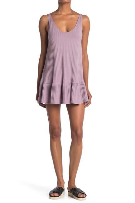 Image of Velvet Torch V-Neck Rib Dress