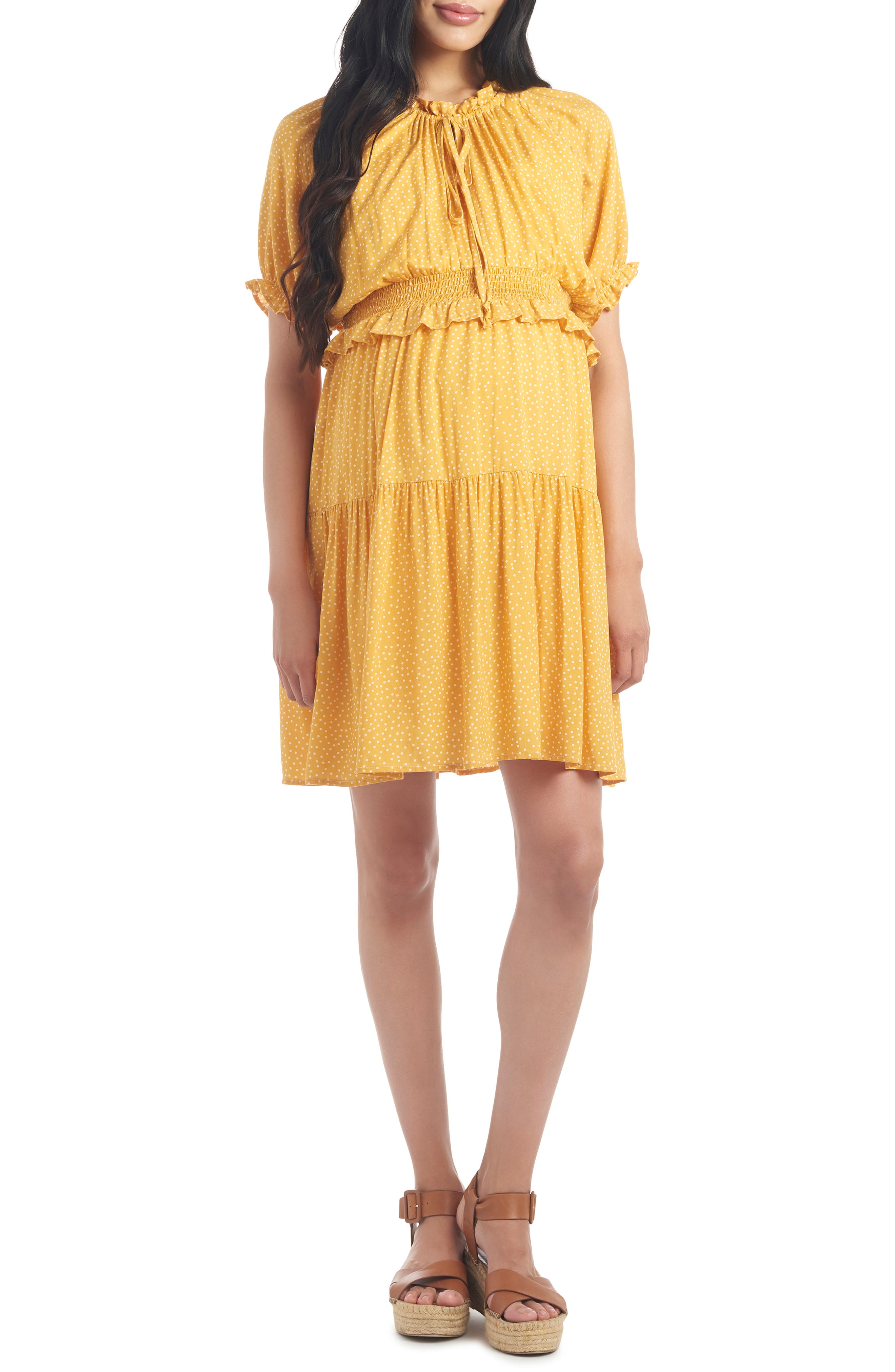Debra Maternity/nursing Fit & Flare Dress