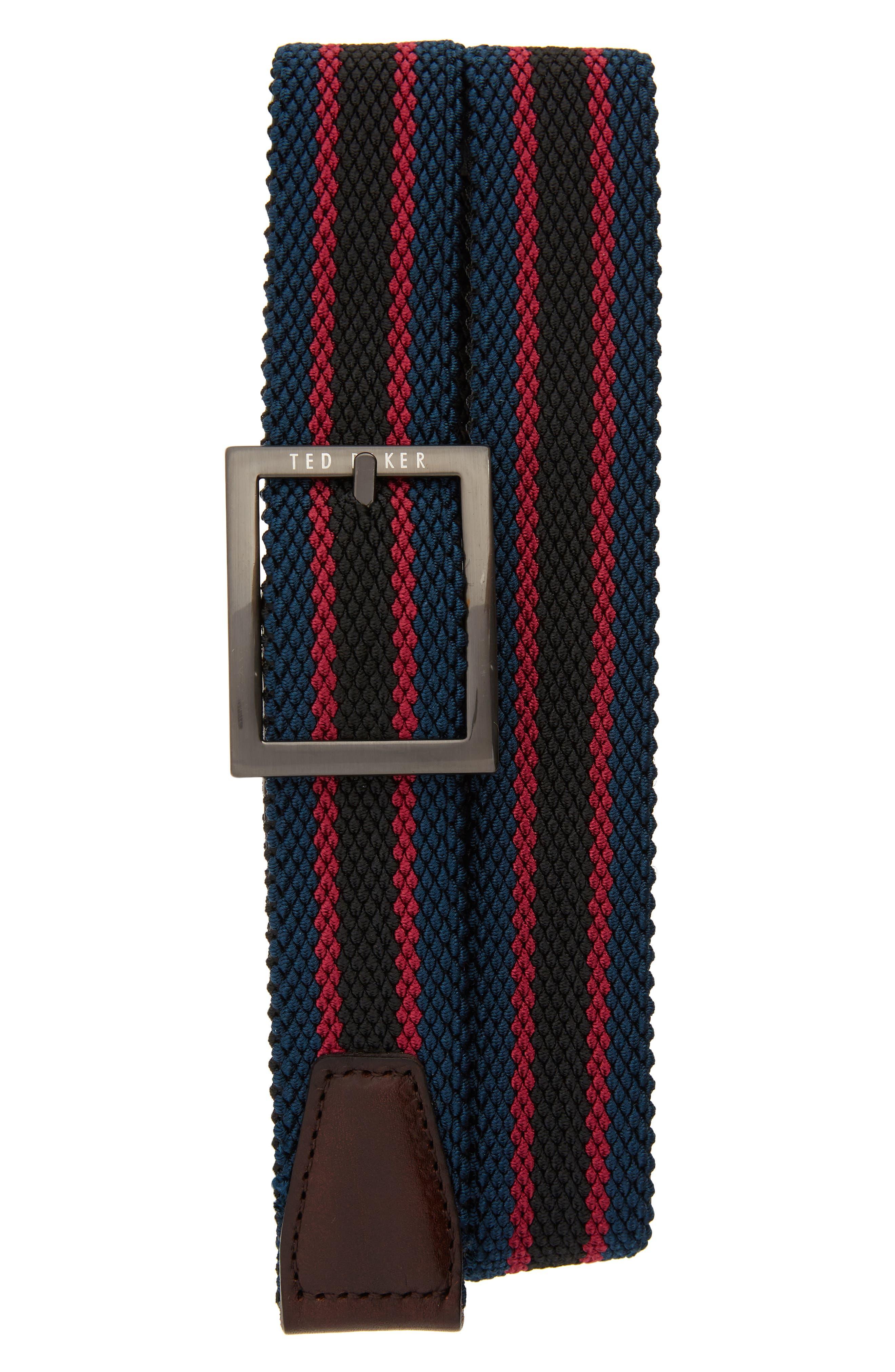 Ted Baker London Reversible Stretch Belt, Teal-Blue