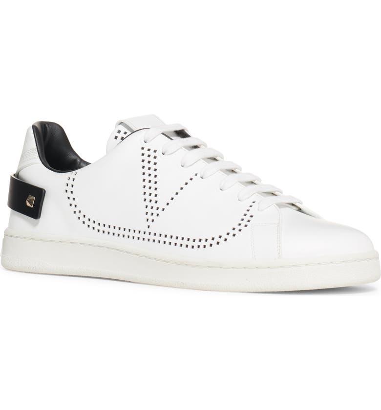 VALENTINO GARAVANI Net V Sneaker, Main, color, WHITE/ NAVY/ NAVY