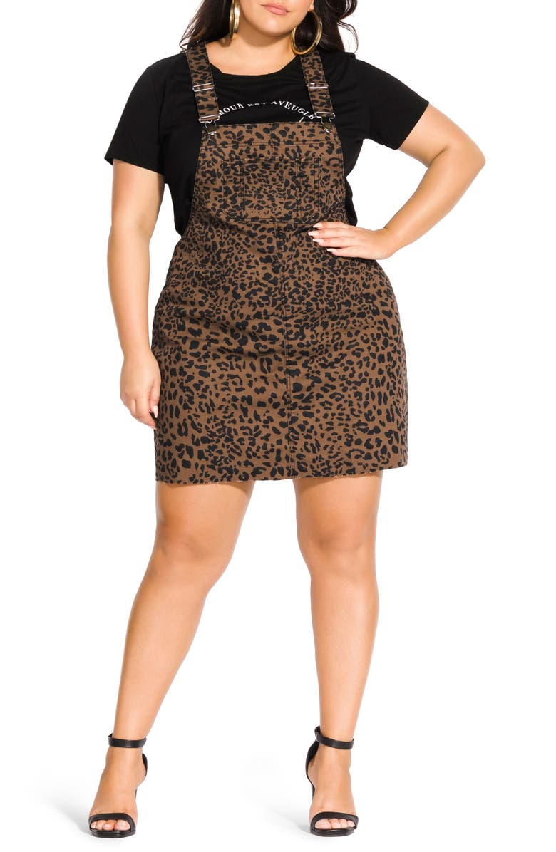 City Chic Jungle Frenzy Jumper Dress (Plus Size) | Nordstrom