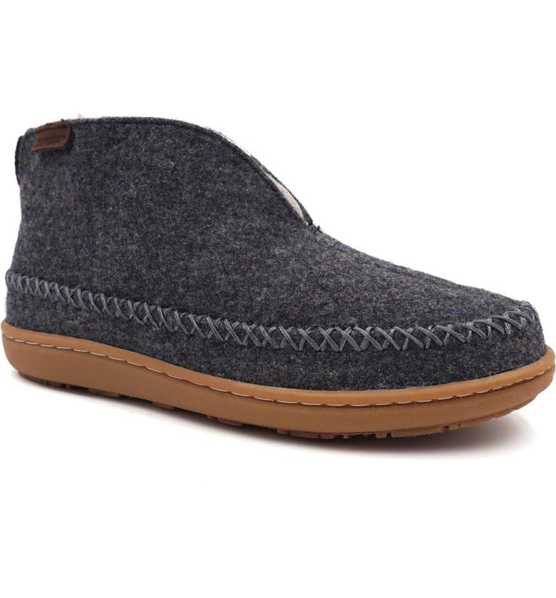 PENDLETON Mountain Faux Shearling Lined Slipper, Main, color, CHARCOAL GREY WOOL