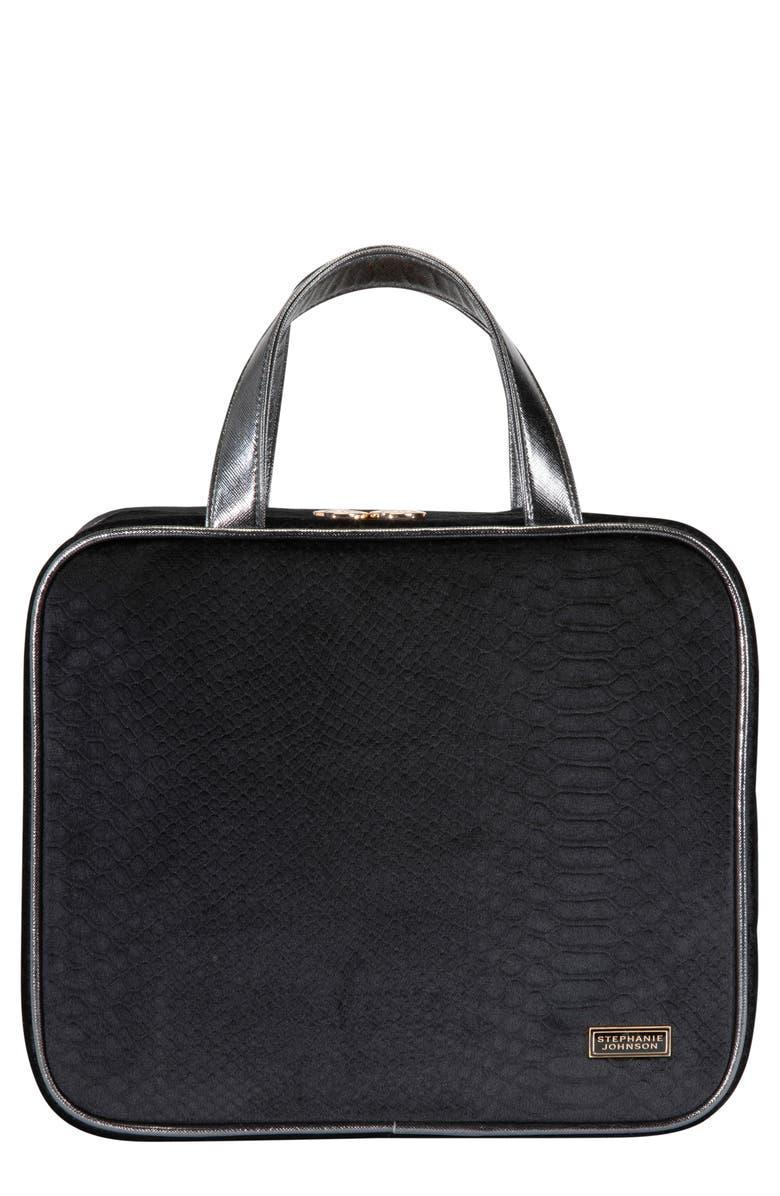 STEPHANIE JOHNSON Marais Noir Martha Large Briefcase Cosmetic Case, Main, color, NO COLOR