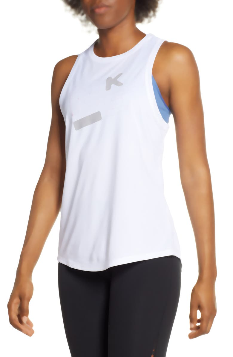 NIKE Legend High Neck Dri-FIT Tank, Main, color, WHITE/ ATMOSPHERE GREY