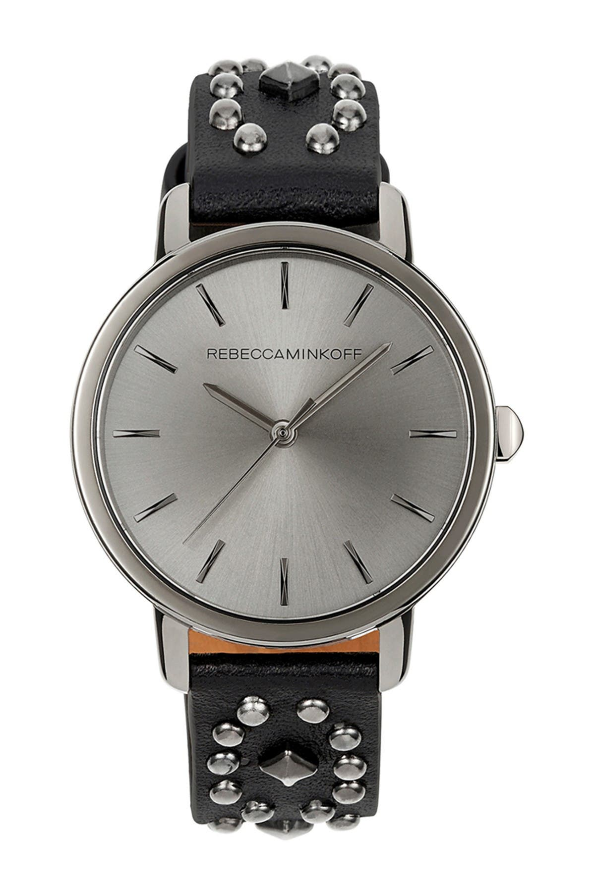 Image of Rebecca Minkoff Women's BFFL Studded Leather Strap Watch, 36mm