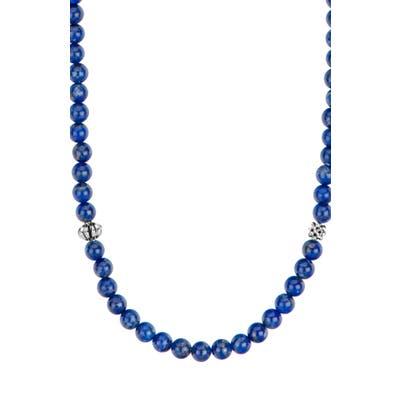 Lagos Caviar Icon Station Semiprecious Stone Necklace