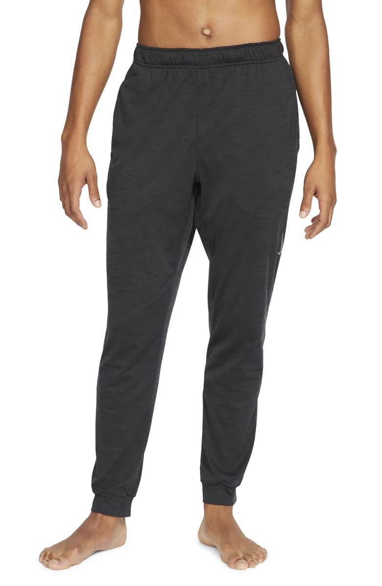 NIKE Dri-Fit Men's Pocket Yoga Pants, Main, color, OFF NOIR/ BLACK/ GRAY