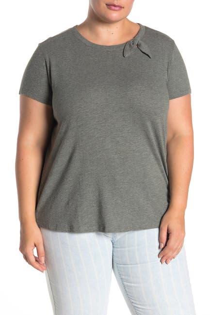Image of SUSINA Short Sleeve Tied Bow T-Shirt