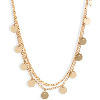 8 Other Reasons Get Your Sleek On Double Strand Disc Necklace
