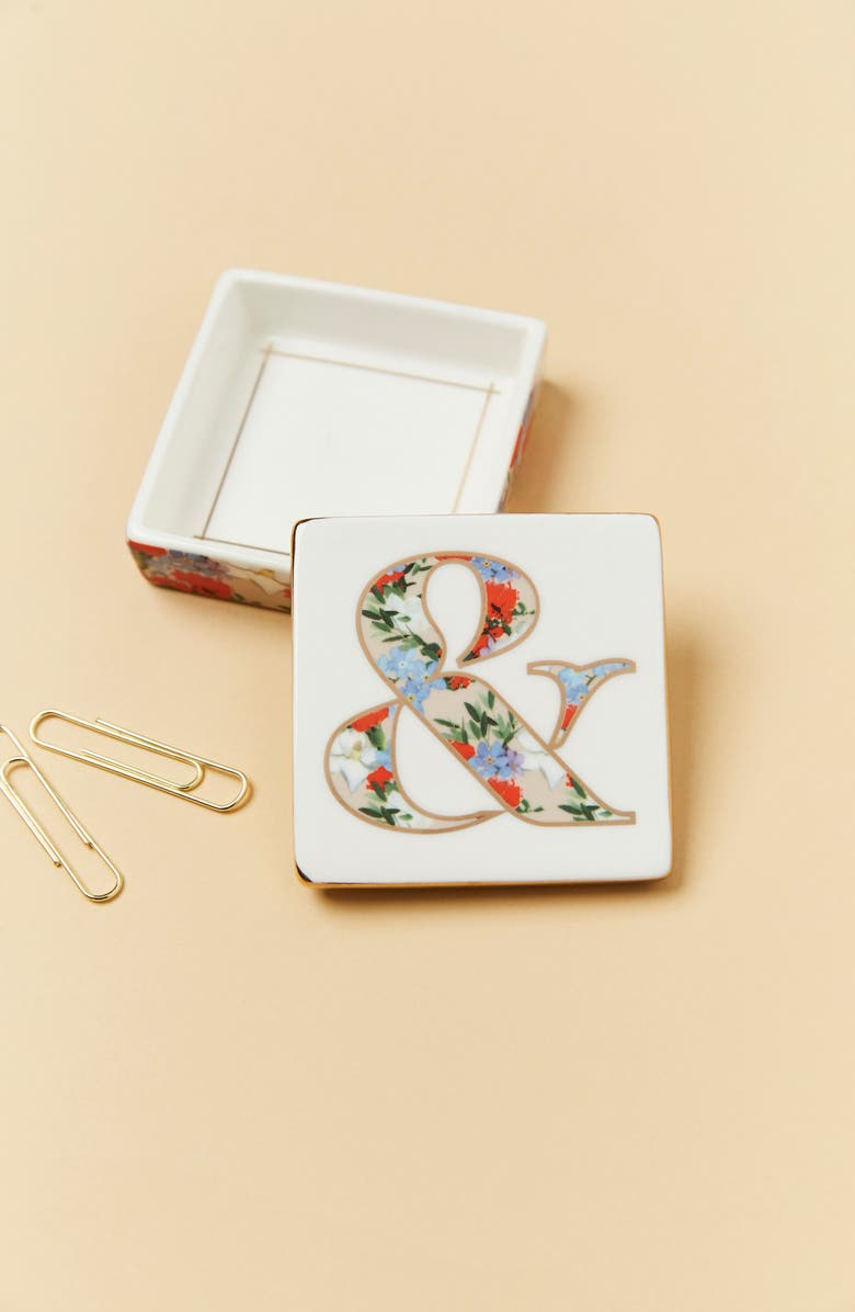 ANTHROPOLOGIE HOME Anthropologie Monogram Lidded Jewelry Box, Main, color, 100