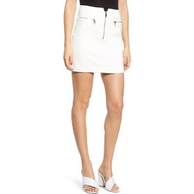 Tiger Mist Lennon Faux Leather Miniskirt, White