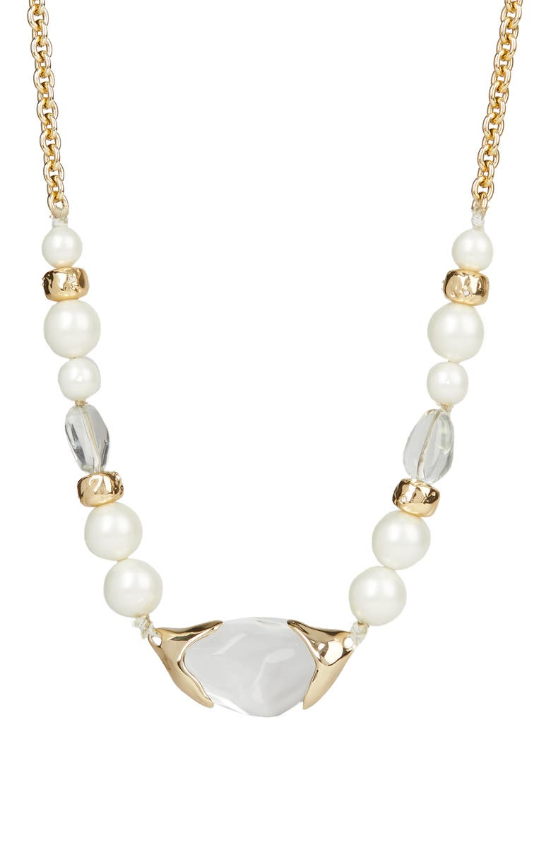 ALEXIS BITTAR Asteria Nova Encased Pebble Strand Necklace, Main, color, 100