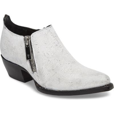 Frye Sacha Double Zip Bootie- White