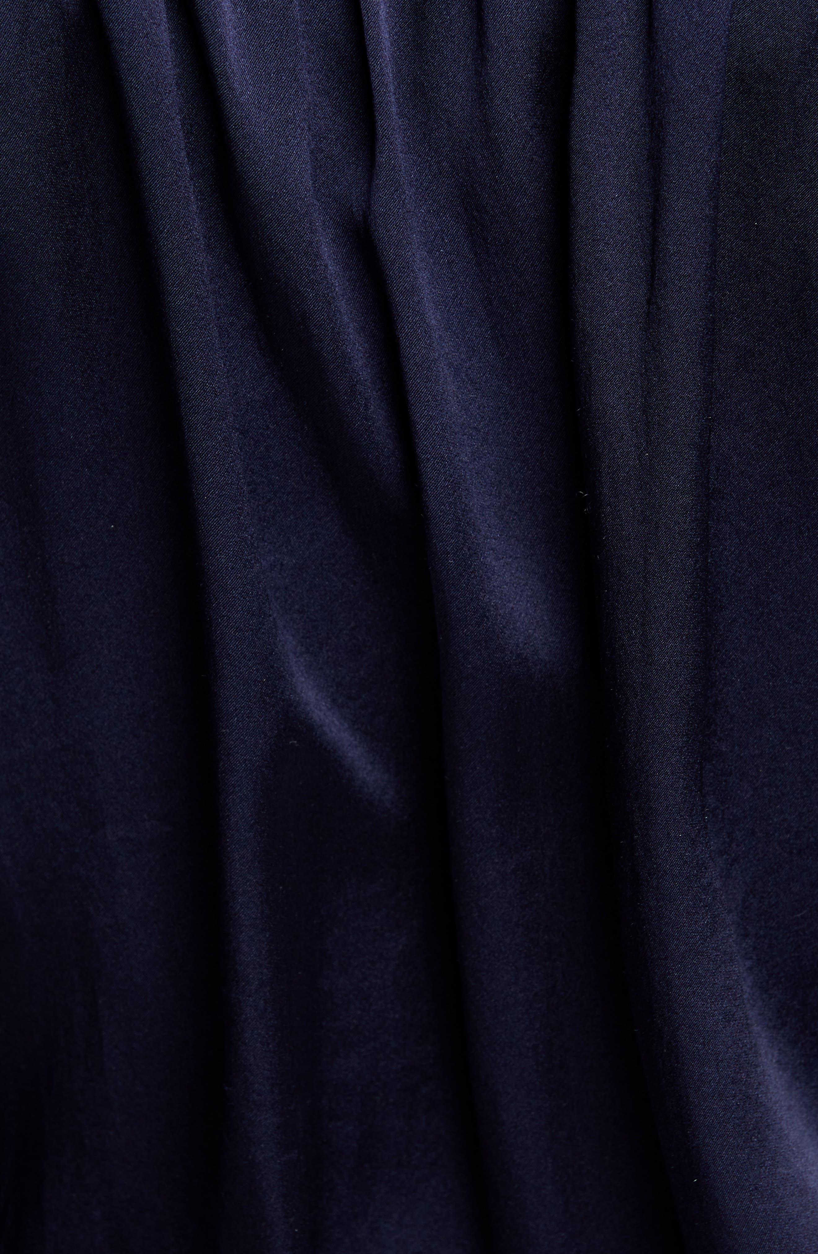 ,                             Marcella Silk Charmeuse Bodysuit,                             Alternate thumbnail 5, color,                             MIDNIGHT
