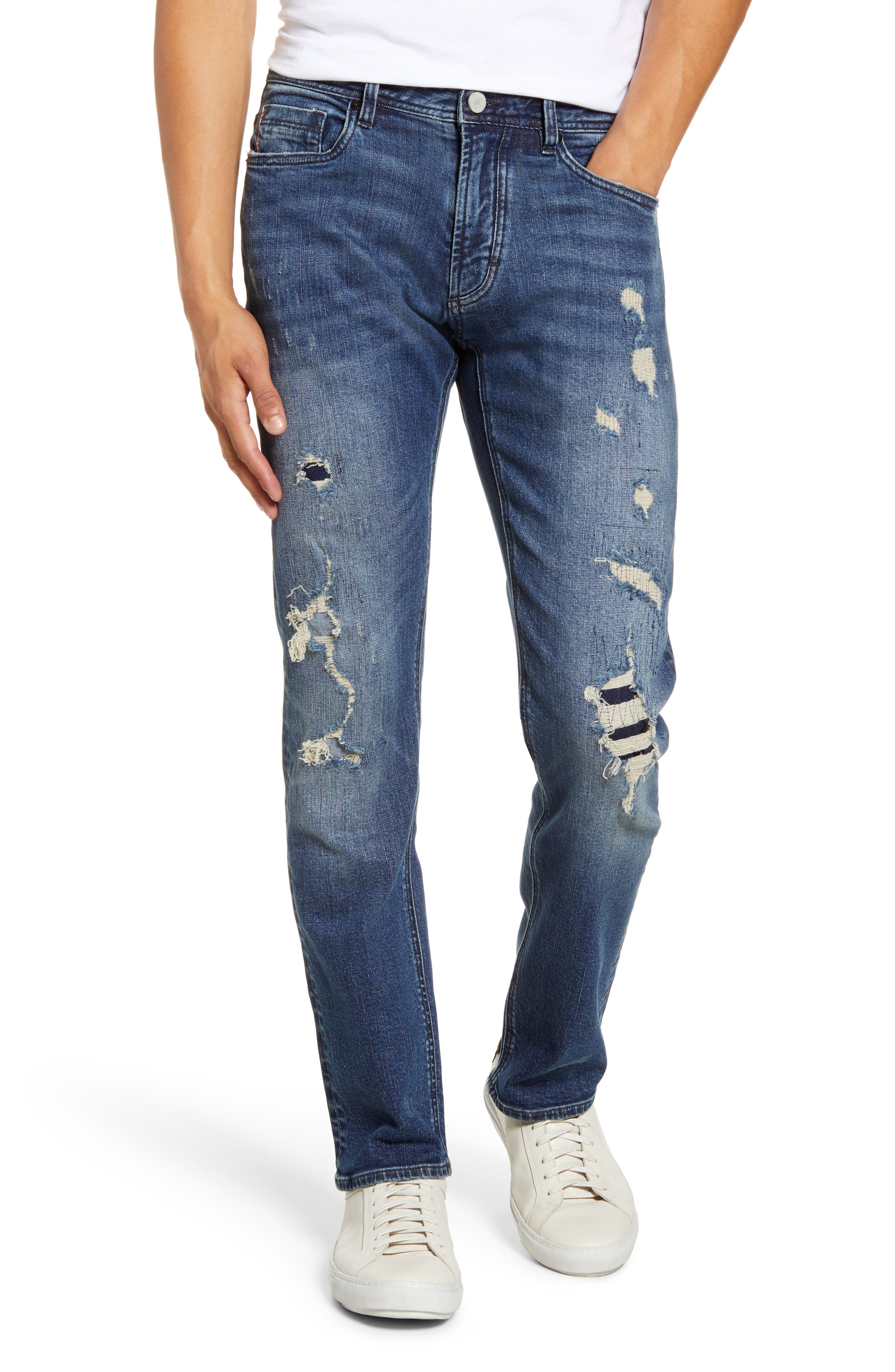 Blanknyc Jeans Wooster Ripped Slim Fit Jeans