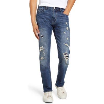 Blanknyc Wooster Ripped Slim Fit Jeans, Blue
