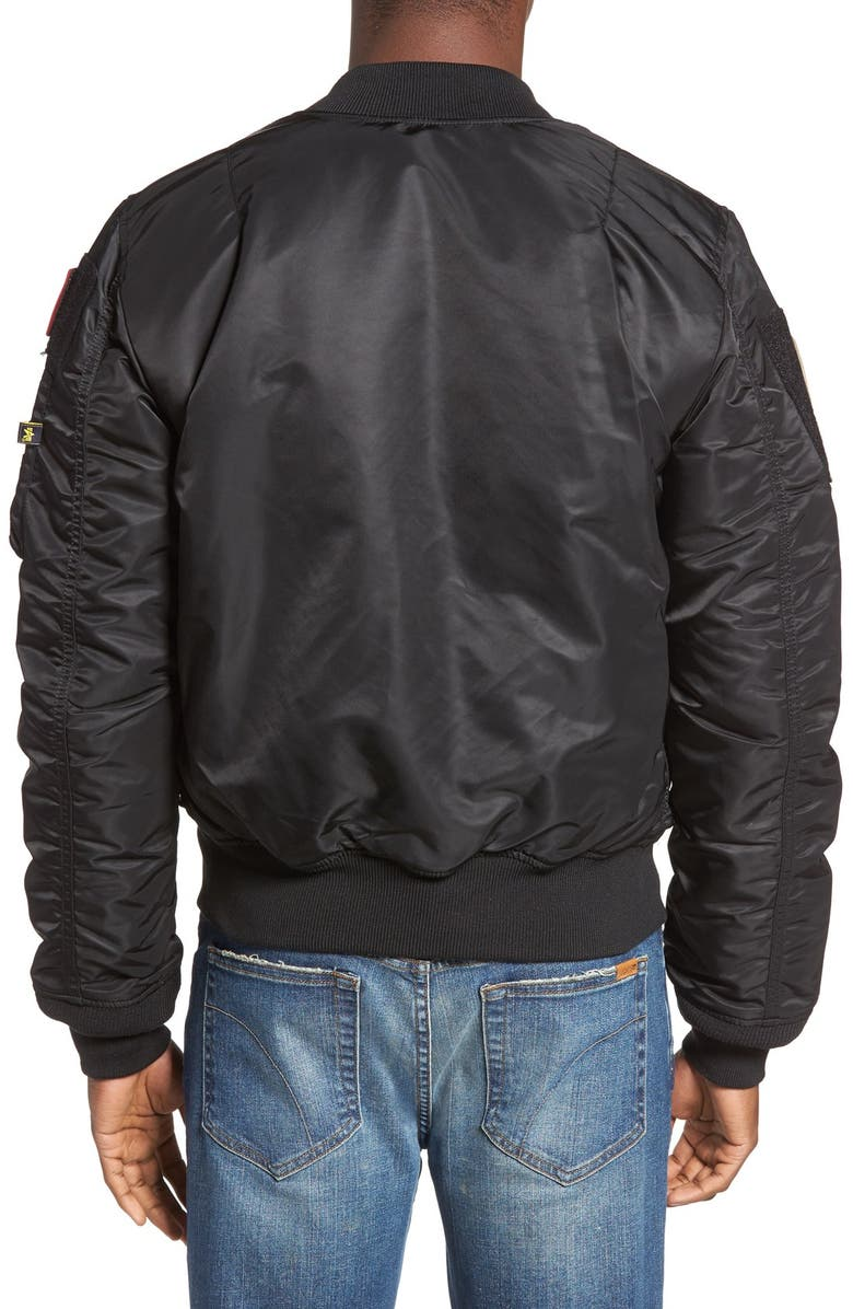 Slim Fit Reversible MA 1 Flex Bomber Jacket