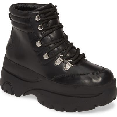 Steve Madden Husky Lace-Up Boot- Black