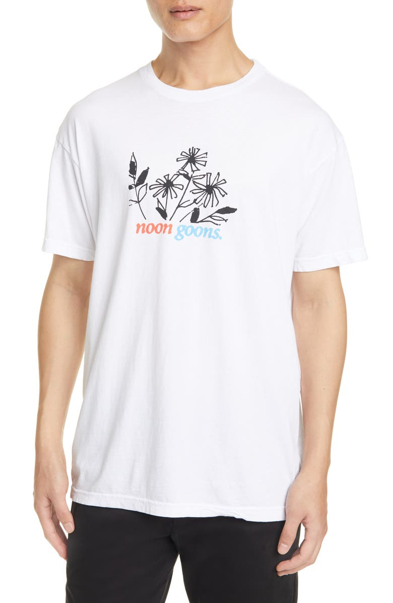 NOON GOONS Flowers T-Shirt, Main, color, WHITE