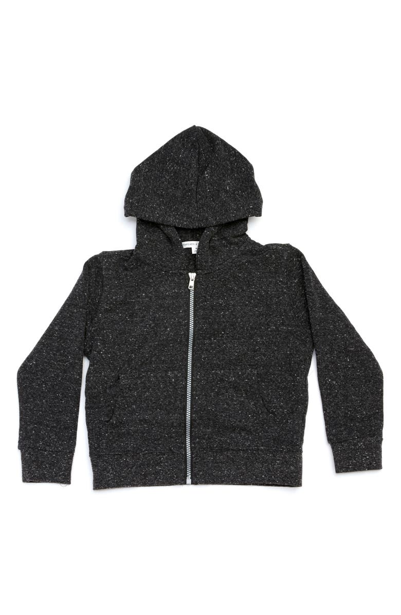 THREADS 4 THOUGHT Zip Hoodie, Main, color, HEATHER BLACK