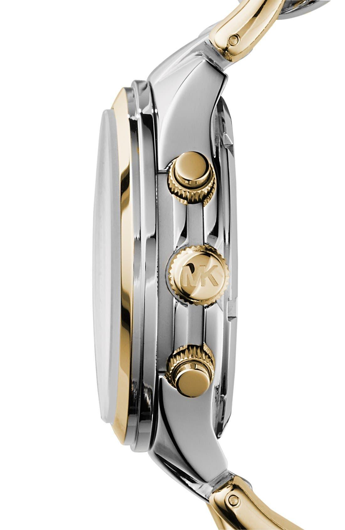 ,                             Michael Kors Chain Bracelet Chronograph Watch, 38mm,                             Alternate thumbnail 4, color,                             040